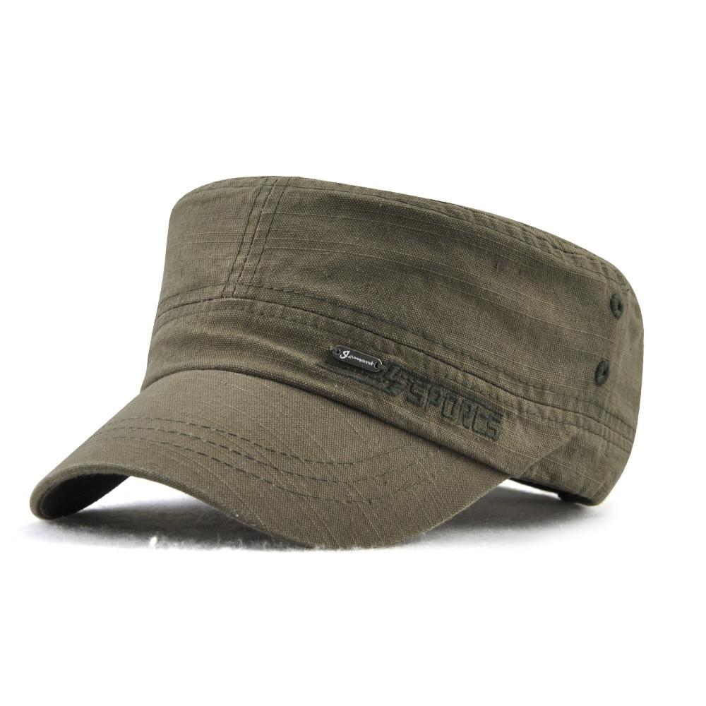 cc343448 Detail Feedback Questions about Military Style Cadet Cap Men Women Pure  Color Washed Cotton Flat Top Cap Summer Autumn Adjustable Chapeau Visor Hat  on ...