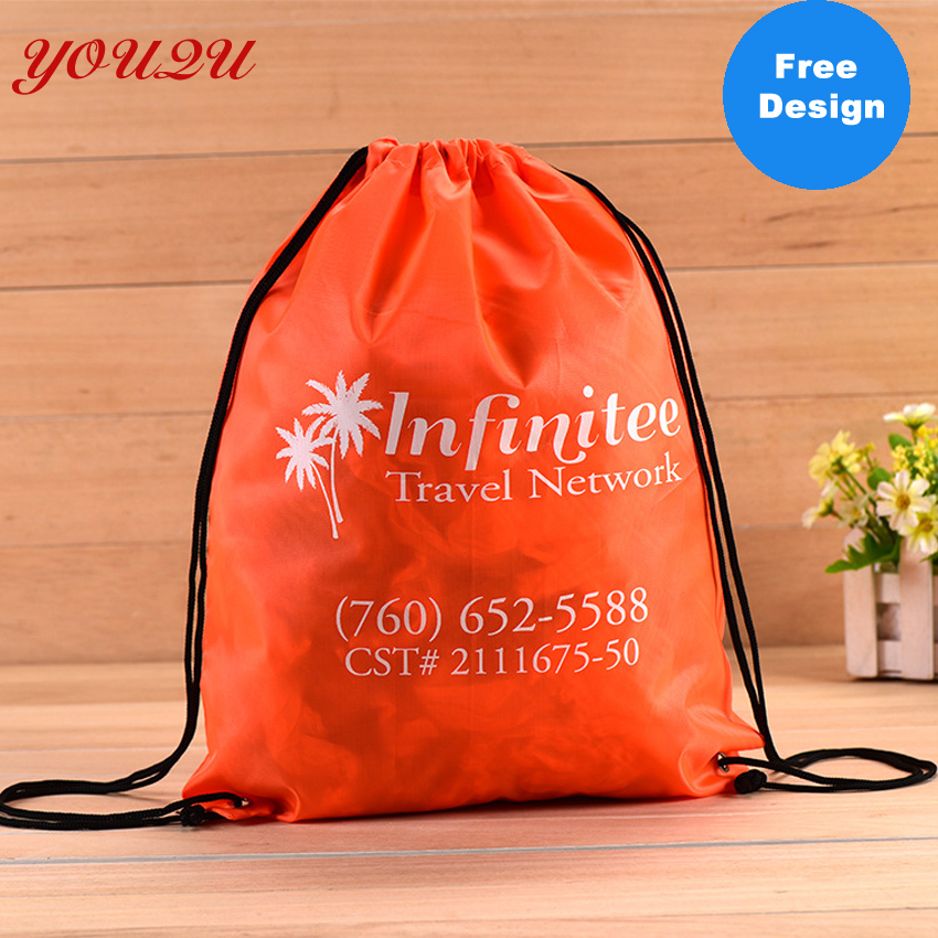 Customized High Quality Cheap Polyester Bag  Nylon Drawstring Backpack, Drawstring Bag Polyester Lowest Price And Escrow Accept