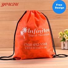 customized high quality cheap polyester bag nylon drawstring