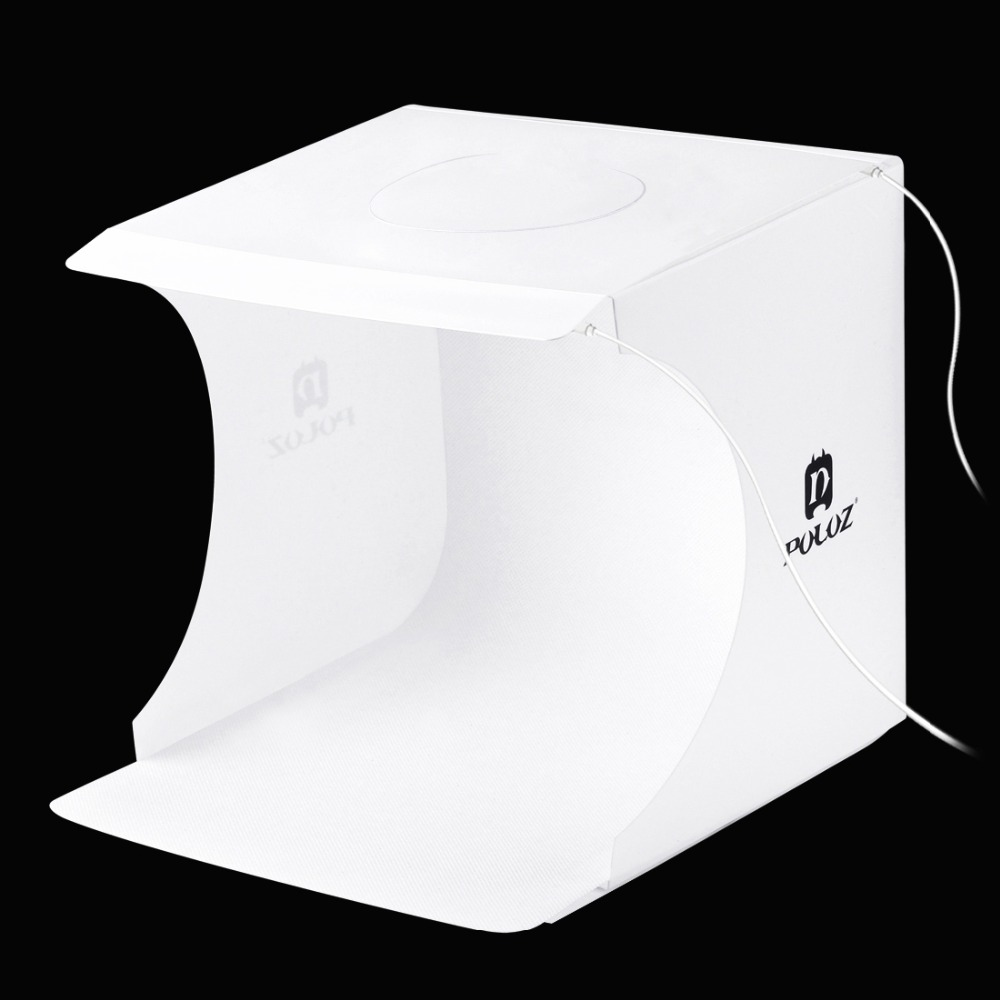 Mini Photo Studio Folding Lightbox Photography Softbox 2 Panel LED Light Soft Box Photo Background Kit Light box for DSLR Camera