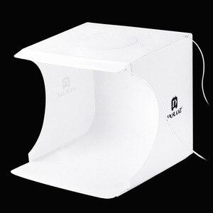 Image 3 - Складной мини светильник для фотостудии, софтбокс для фотографии, 2 панели, светодиодный светильник, мягкая коробка для фотографий, набор для фона светильник, коробка для цифровой зеркальной камеры