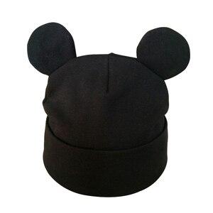 Outono inverno bebê menino menina dos desenhos animados chapéu de algodão com orelha criança crianças gorro caps crianças acessórios
