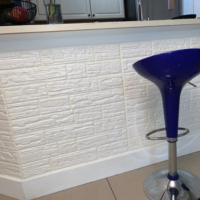 Настенная бумага самоклеющиеся 3D рельефные водонепроницаемые пенопластовые наклейки теплые украшения для гостиной утолщенная анти-столкновения настенная бумага