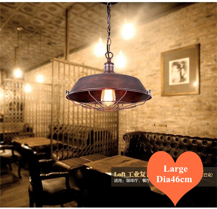 ФОТО European brief warehouse black&rust iron art chandeliers Industry style large E27 LED lamp for Cafe&Bar&corridor&Porch CYDD039B