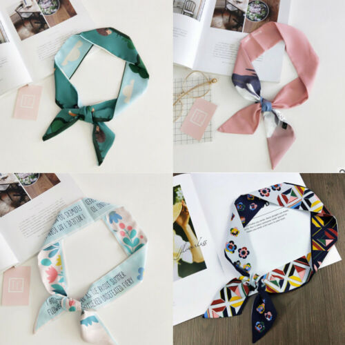 2019 Summer Women Fashion   Scarves   Twilly Ribbon Tied Bag Handle Decor Small   Scarf     Wraps   Lady Gift