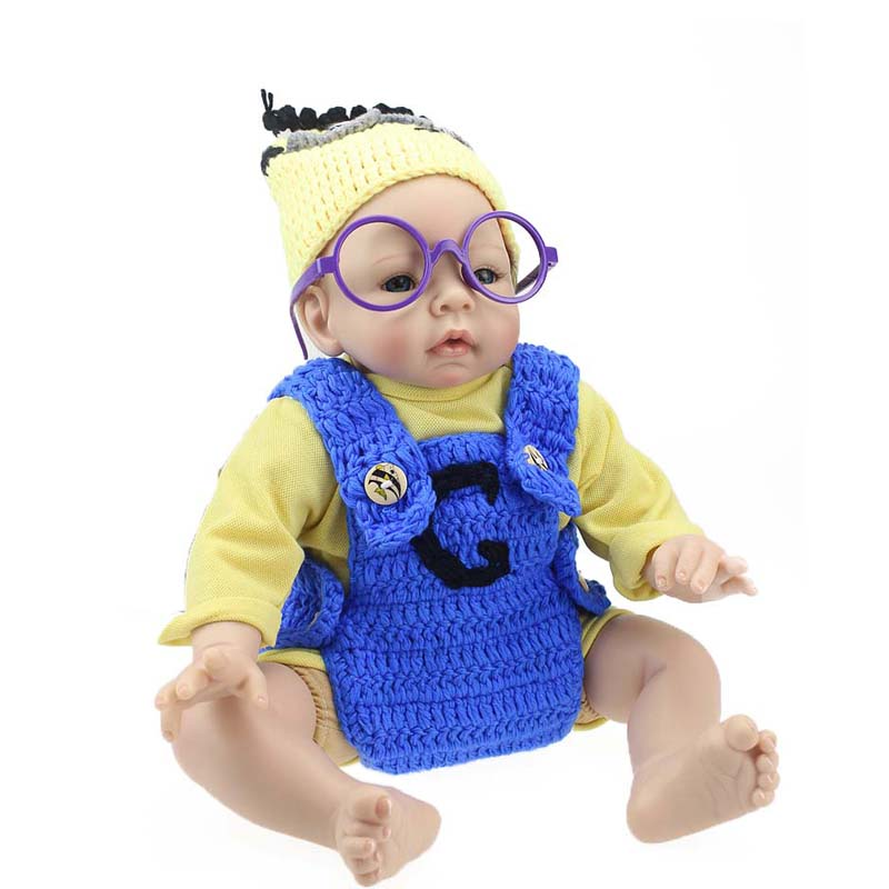 New Arrival Doll Baby 55CM 22inch Bebe Reborns Dolls Lifelike Silicone Head/Arms Reborn Doll Fashion Newborn Reborn Babies Toys bebe reborn doll 22inch silicone reborn baby doll toys 55cm lifelike newborn dolls realista brinquedos for kids birthday gift