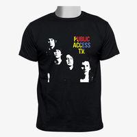 Public Access TV Indie Band Custom Gildan Men Black Tshirt Size S 2XL