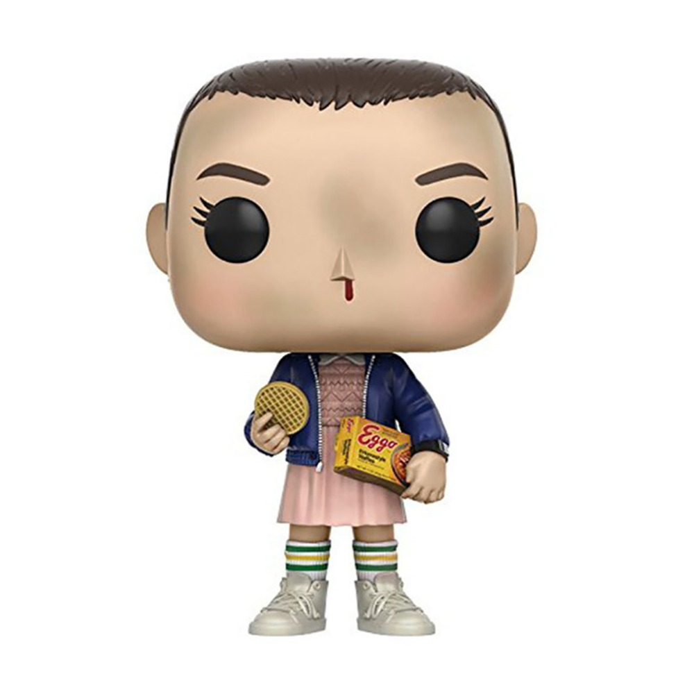 New Style About 10cm Stranger Things ELEVEN WITH EGGOS Hand DEMOGORGON Action Figure Bobble Head Q Edition For Car Decoration new 10cm naruto shippuden sasuke kurama action figure bobble head q edition new box for car decoration