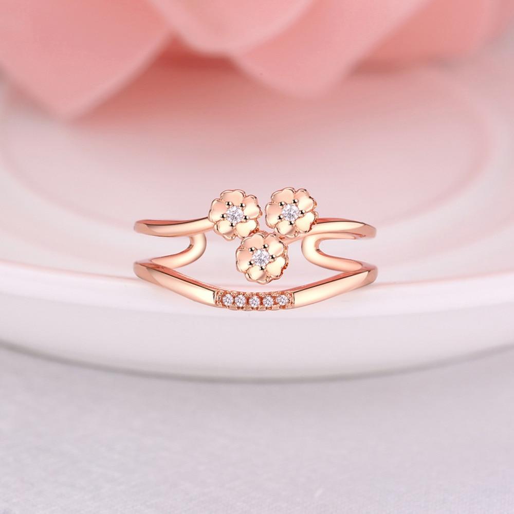 Elegant Fashion Crystal Rhinestone Rose Gold Flower Girls Jewelry ...