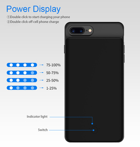 Image 5 - 100% 5000/7000mAh Battery Case For iPhone 6 s 6s 7 8 PowerBank Charging Case For iPhone 6 6s 7 8 Plus Battery Charger Case Cover