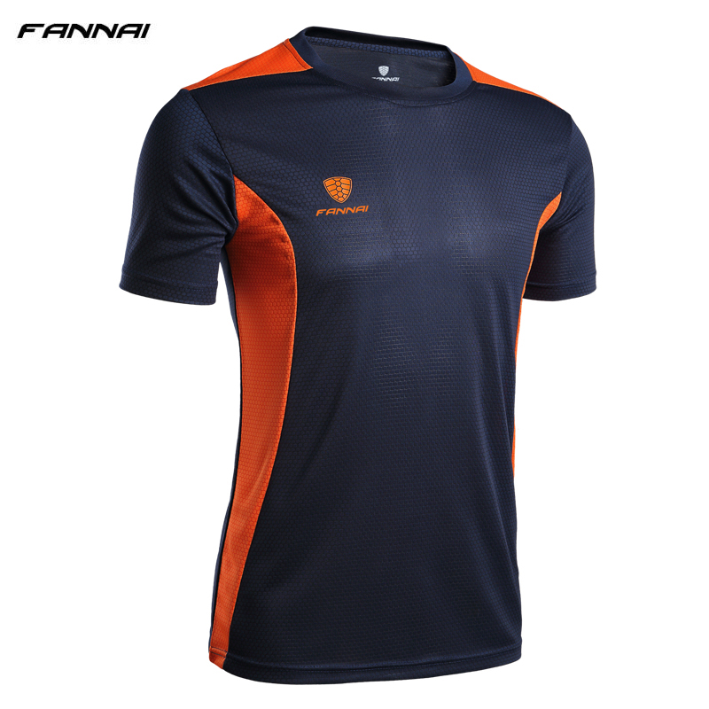 Summer Style T Shirt New Soccer Jersey Running Fitness Quick Dry Slim Fit T-shirts Short-Sleeve top Sports t shirt For Men XXXL men s slim fit casual turn down collar solid color short sleeve polo t shirt