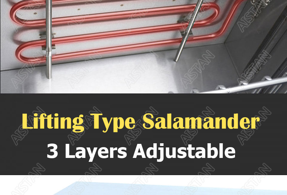 AT936 stainless steel electric hanging salamander for barbecue and kitchen equipment 6