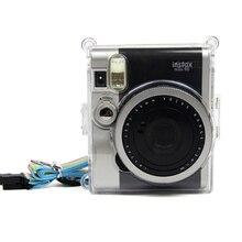 Para Fujifilm Instax Mini NEO Classic 90 cámara instantánea protectora cristal claro funda de transporte funda dura con correa de hombro