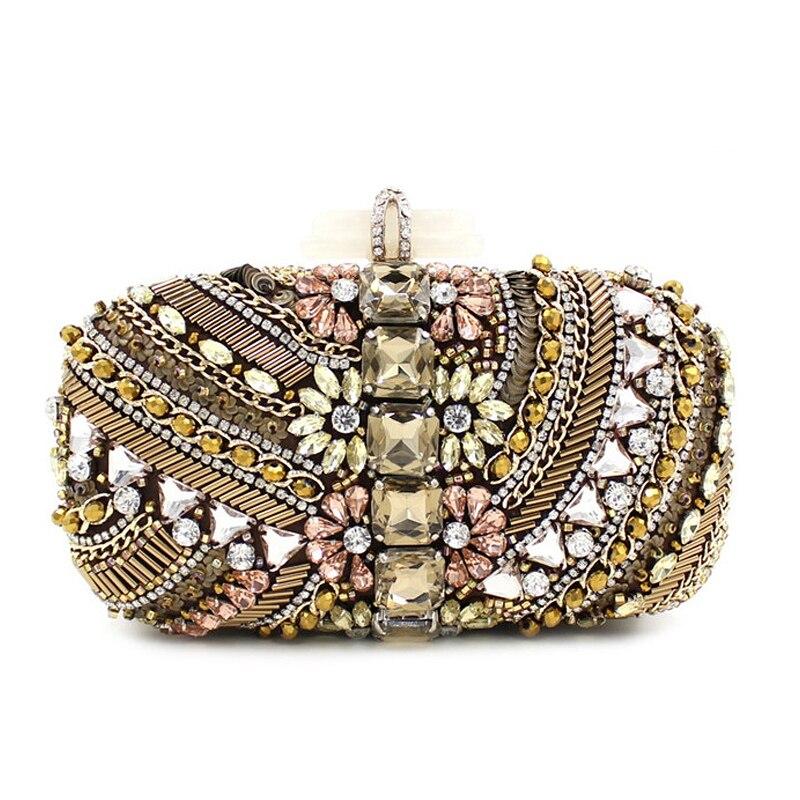 ФОТО Luxury handbags women bags designer Diamond Flower Crystal Evening Bag Clutch Bags Day Clutches Lady Wedding Purse Bolsa De