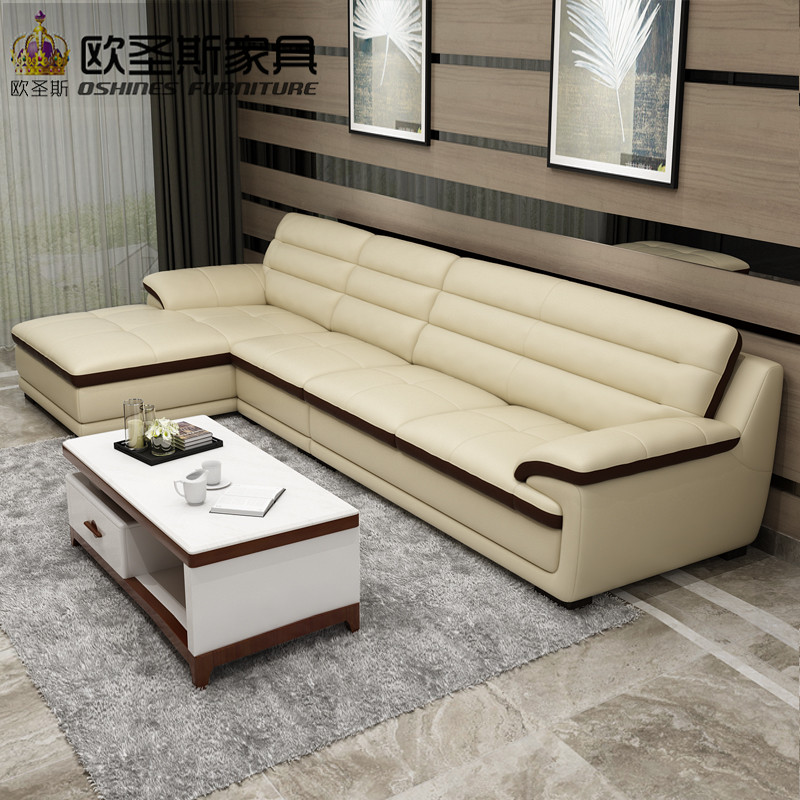 Amazing Roma Modern L Shape Sectional Softline Synthetic Leather Corner Germany  Living Room Heated Leather Sofa With Single Chair Chaise In Living Room  Sofas From ...