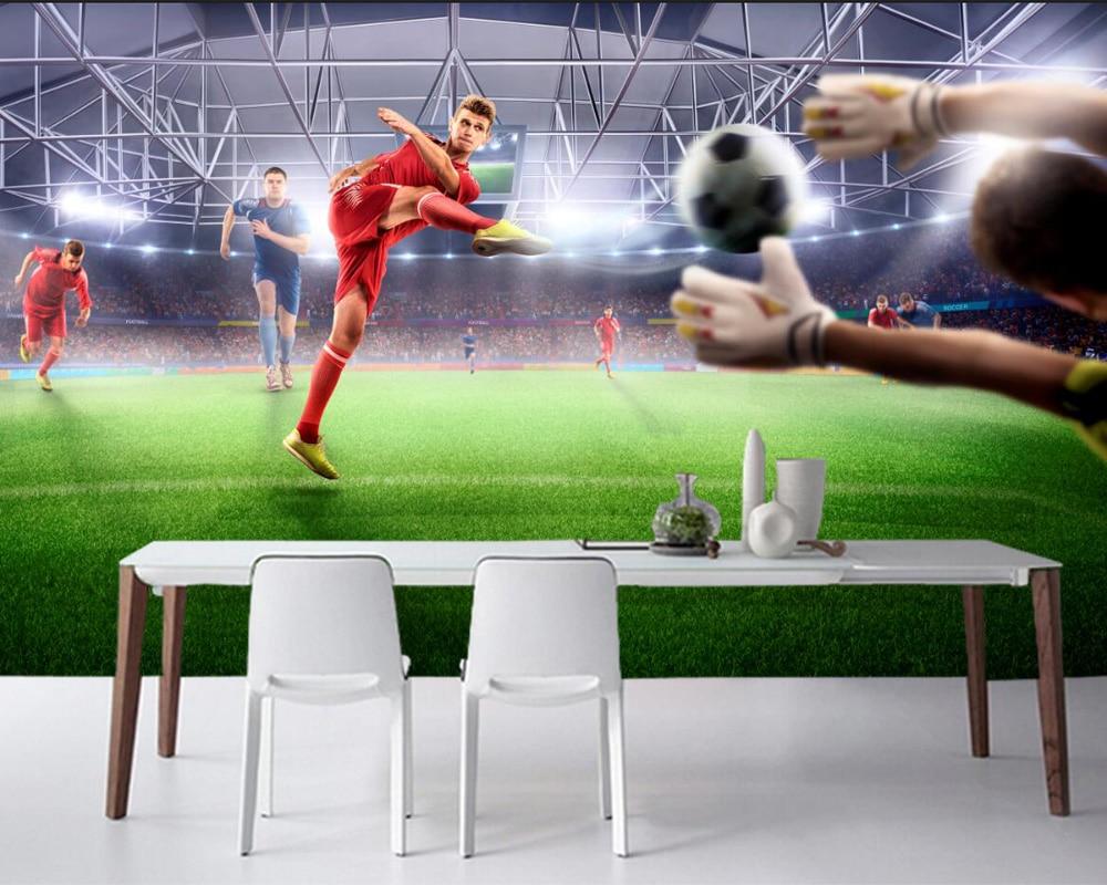 Custom Footbal Men Lawn Hands Ball Stadium Sport Wallpaper