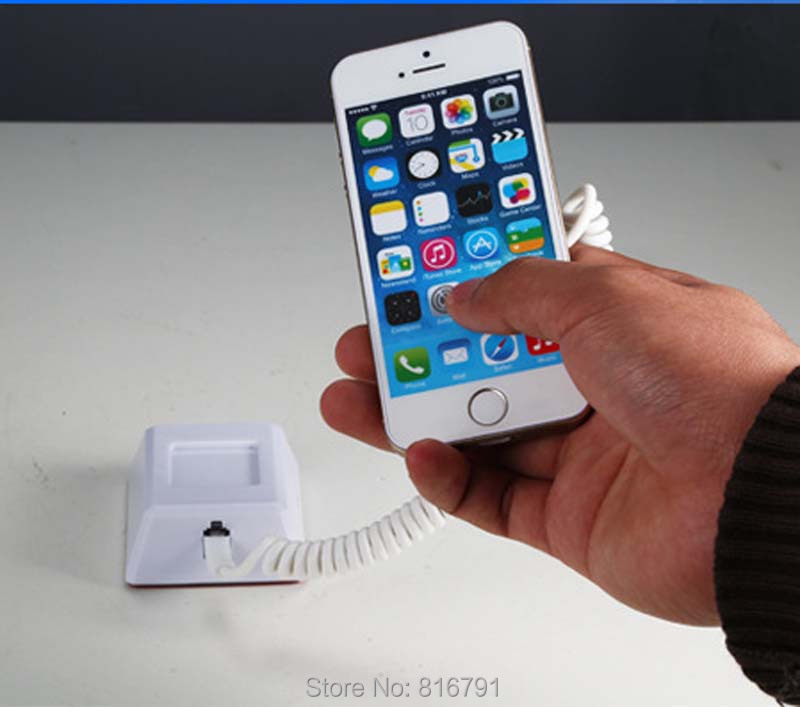ФОТО Cell Phone Anti-lost Recoiler Mobile Charging Alarm Holder Sensor