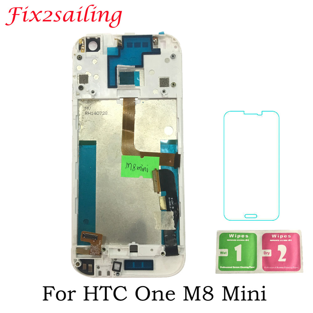 4.5inch for HTC One Mini 2 LCD M8 Mini LCD Display + Touch Screen with frame Replacement Parts Mobile Phone Display Screen