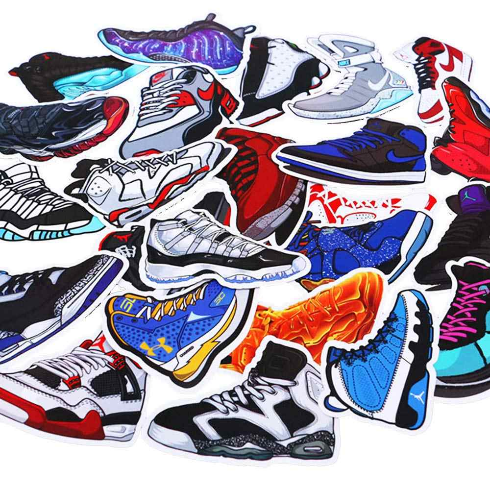 100pcs basketball sneakers sticker for kids laptop car decal fridge skateboard fashion jordan graffiti cool waterproof