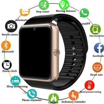 2019 Smartwatch GT08 Smart Watch Women Men Relogio Phone Call Big Battery SD Card Touch ScreenFor Xiaomi Huawei iPhone Watch