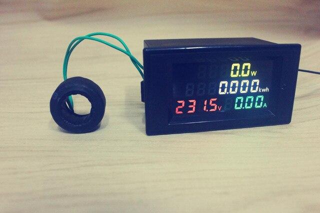 Digital AC Voltage Meters 100A 80~300V electric Power Energy Voltmeter Ammeter watt current Amps Voltage meter LED Panel Monitor