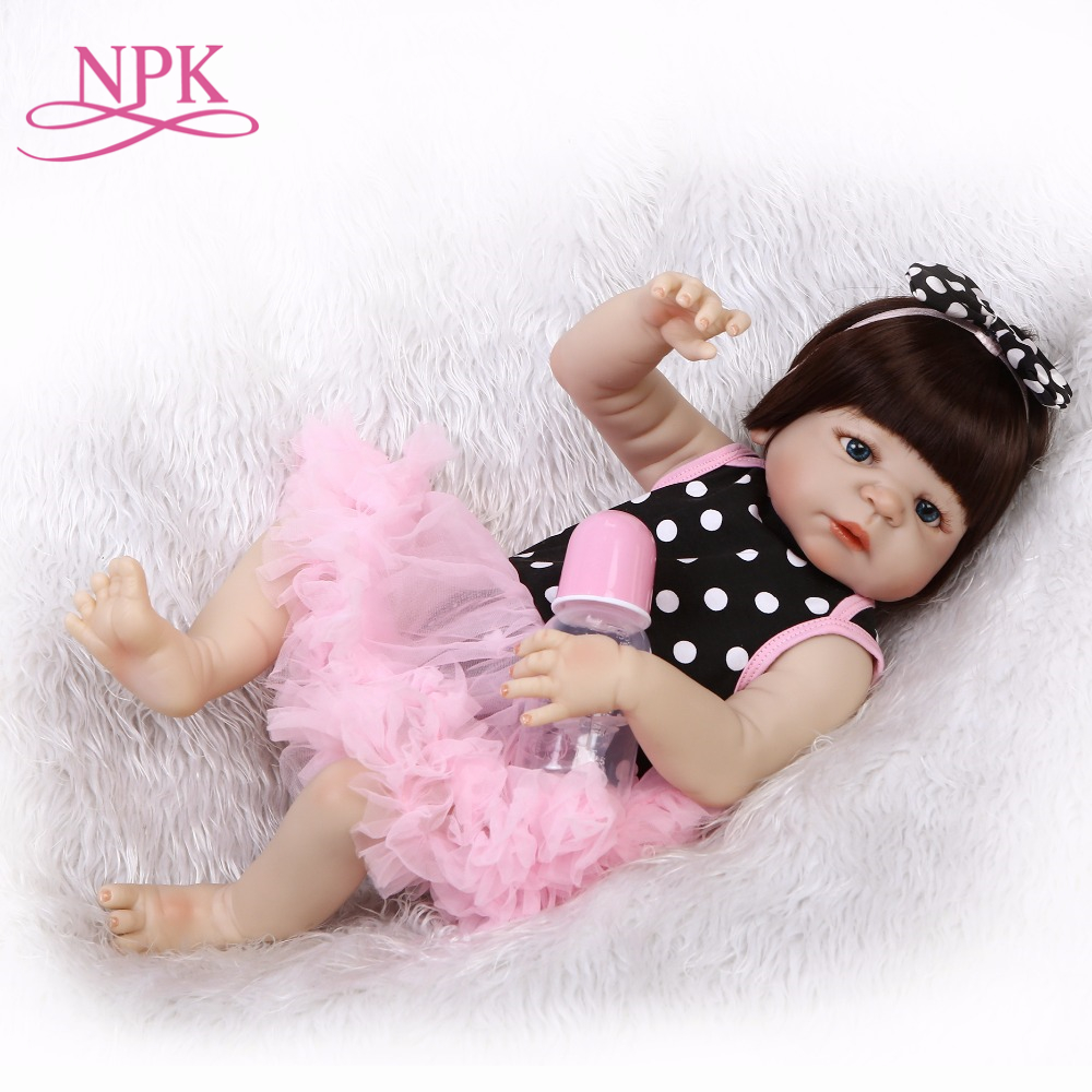 Hot Sale 56CM Full Body Silicone Reborn Baby Girl Dolls Reborn Reborn Can Bath Bebes Reborn