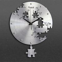 16 Inch Circilar Creative Puzzles Wall Clock Modern Design For Living Room Decoration Art 3D Wall Clock Mute Home Decor