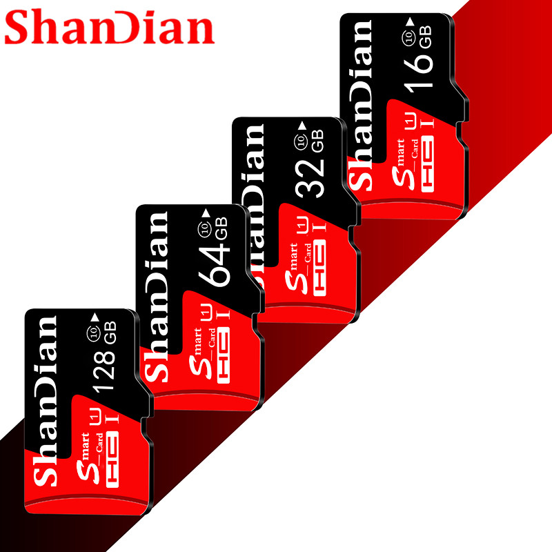 Shandian HOT SALE Original  Micro SD Card 64GB 16GB 8GB 32GB 4GB Memory Card TF Card Free SD Adapter With Retail Package