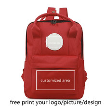 Kindergarten counseling training class picture custom logo printing female primary school baby child photo customized backpack class photo