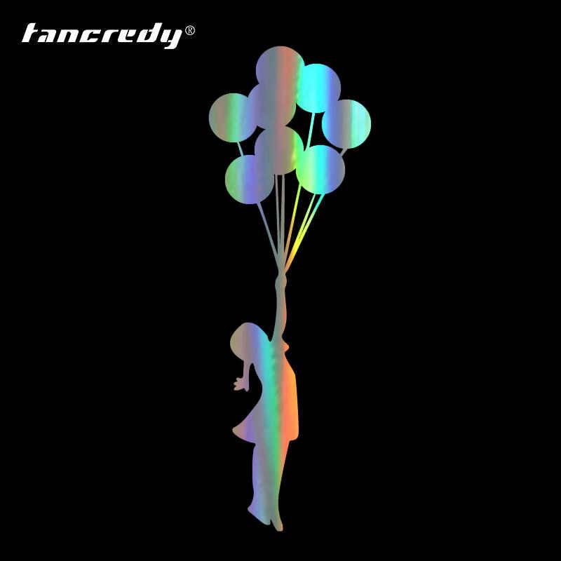 Tancredy 17.8*5.7 เซนติเมตรบอลลูนบินสาวรถจัดแต่งทรงผมตกแต่งสติกเกอร์ไวนิล Decal ศิลปะกันน้ำรถอุปกรณ์เสริม