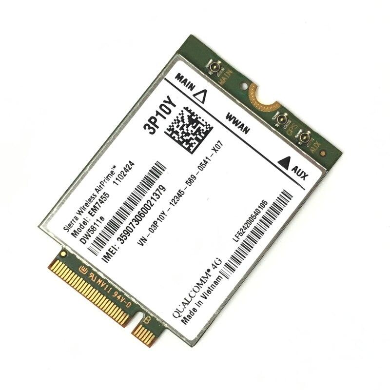 EM7455 DW5811E PN 3P10Y DeII version Sierra Wireless FDD/TDD LTE CAT6 for E7270 E7470 E7370 E5570 E5470 цена 2017