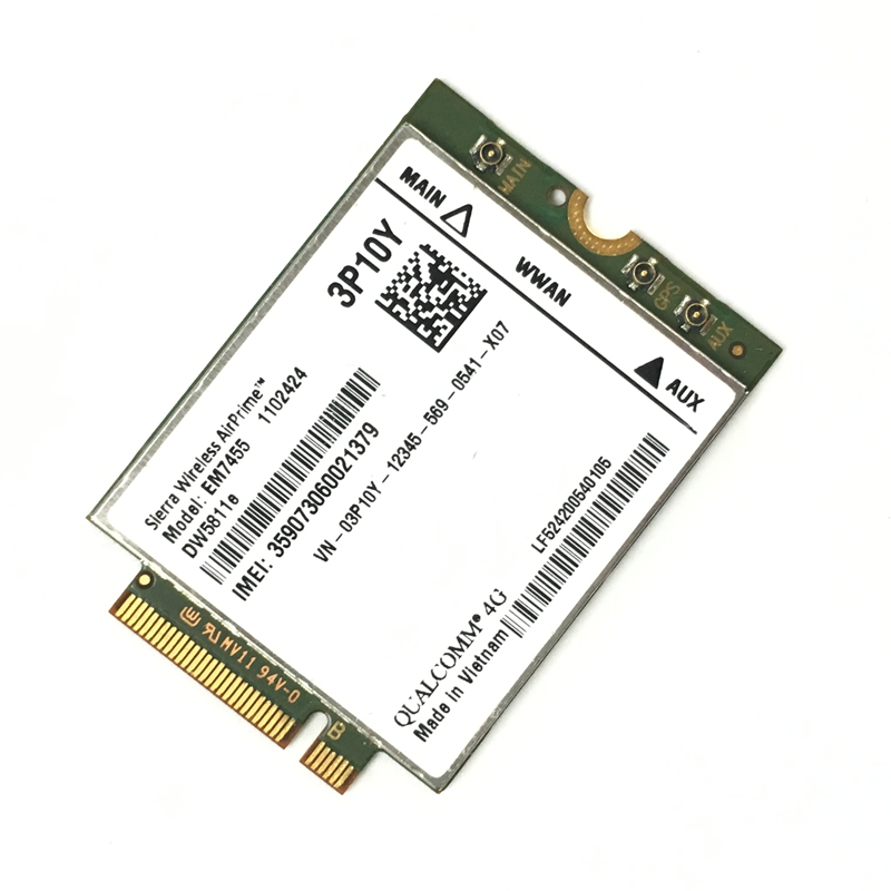 EM7455 DW5811E PN 3P10Y DeII Version Sierra Wireless FDD/TDD LTE CAT6 For E7270 E7470 E7370 E5570 E5470