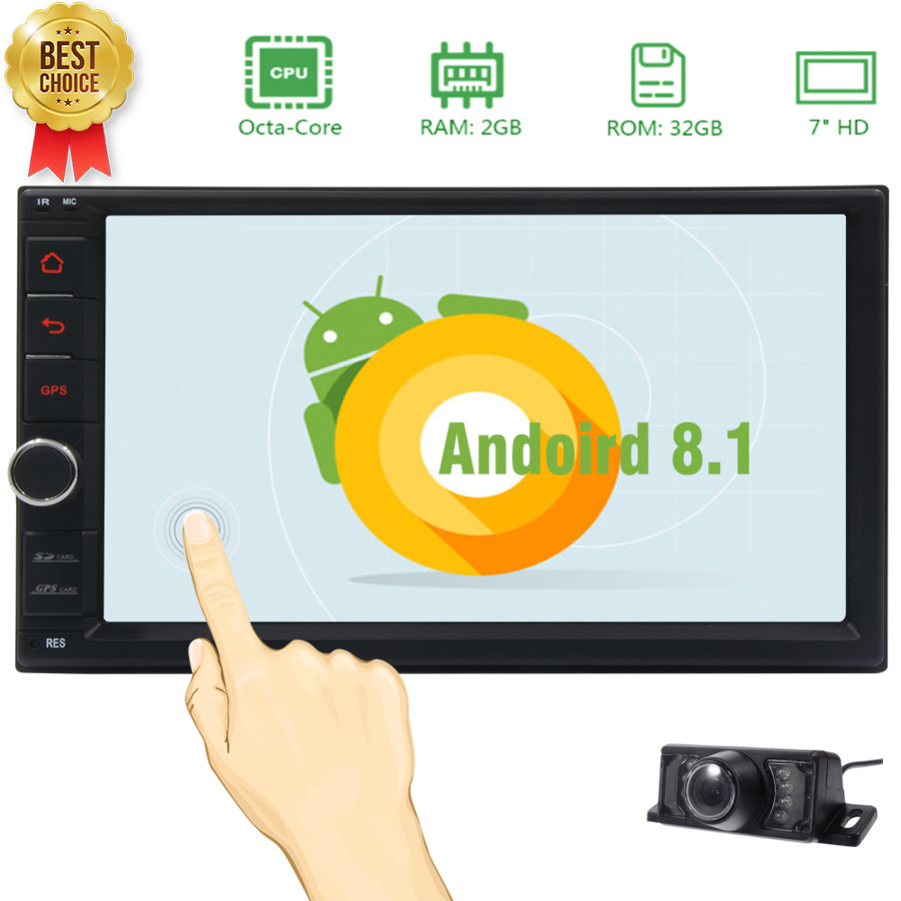 Car Radio Video Music Entertainment with Wifi Web Browsing, App Dowanload Support Subwoofer,AV-IN,AV-Out,Mirrorlink, Built-in image