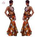 2017 Falda Conjunto de las Mujeres Con Cuello En V vestido de boda Africano Dashiki Africano Falda Blusa Ropa de Algodón 6xl DesignTracksuit WY1143