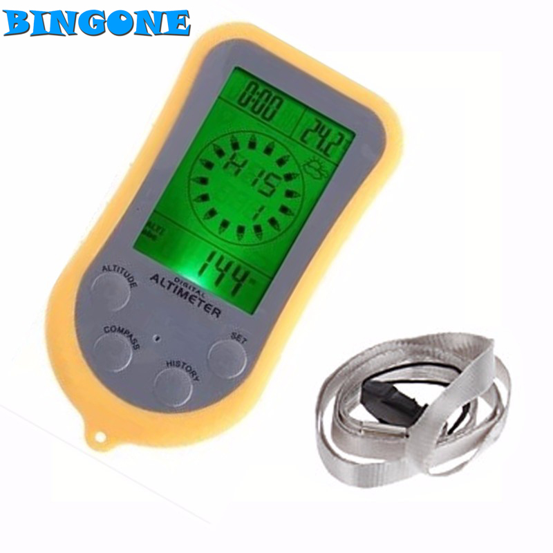 Outdoor Multifunction 8 in 1 Digital Compass Watch Altimeter Barometer Thermometer Calendar Weather Forecast LCD Backlight