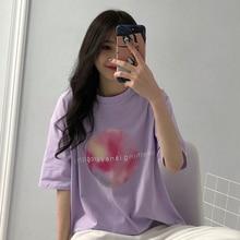 0b9a73dace4a Harajuku moda púrpura-Camiseta de manga larga de mujer vestido de verano  vestido ins par