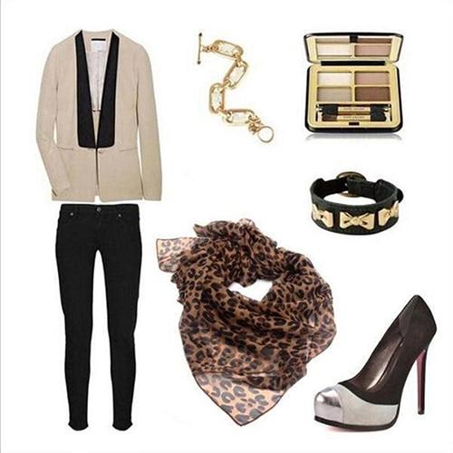 2017 New Women Fashion Long Leopard Shawl   Scarf     Wrap   Lady Chiffon   Wrap   Stole Gift