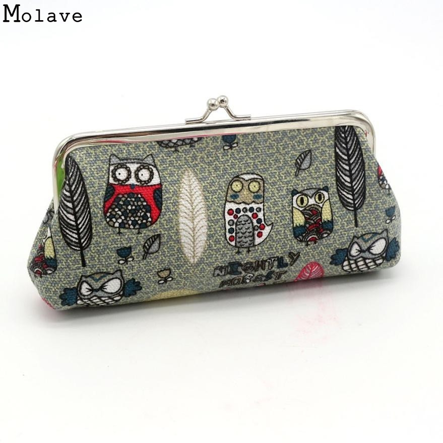 High Fashion New Good Quality Women Lady Canvas Wallet Retro Vintage Owl Small Wallet Hasp Purse Clutch Bag Gift Dec22 недорго, оригинальная цена