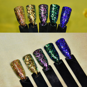 Image 3 - 1g/Box 2017 New Arrival Irregular White Color Chameleon Flakes Color Changing Mica Pigment For Nail Paint, 5colors