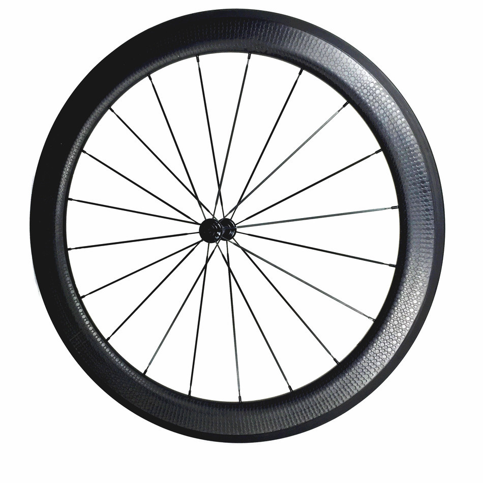 700c dimple surface carbon wheelset light weight 58mm depth clincher road bike wheels with Bitex 306F 306 R Hubs 700c road bike dimple carbon rims dimple carbon wheels 58mm depth 25mm width carbon wheelset 20 24h wheelset parts bicycle wheel