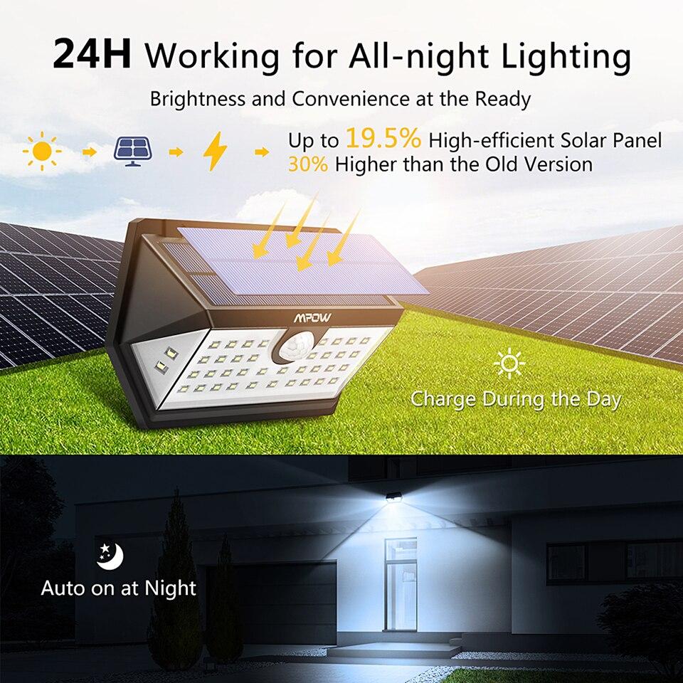 Mpow CD168 40 LED Solar Garden Light Outdoor IP65 Waterproof Brightness Adjustable Solar Lamps (2)