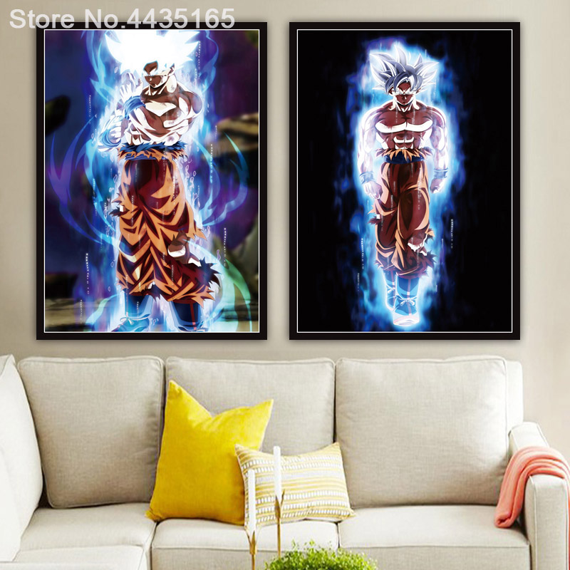 Home & Garden Dragon Ball Z Super Poster Goku Ultra Instinct Mastered Walking Wall Art Picture Posters And Prints Painting For Room Decoration
