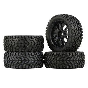 Image 1 - Jantes et pneus hexagonaux pour voiture de course en caoutchouc 75mm, 4 pièces, composants accessoires pour HSP HPI 1:10 RC
