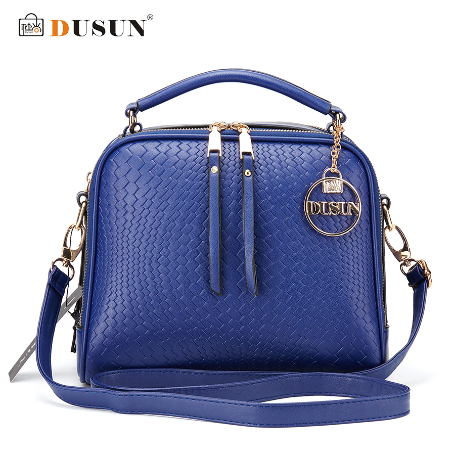 DUSUN Luxury Knitting Pattern Handbag Woman Messenger Fashion Women Famous Design Handbags Feminina Shoulder font b