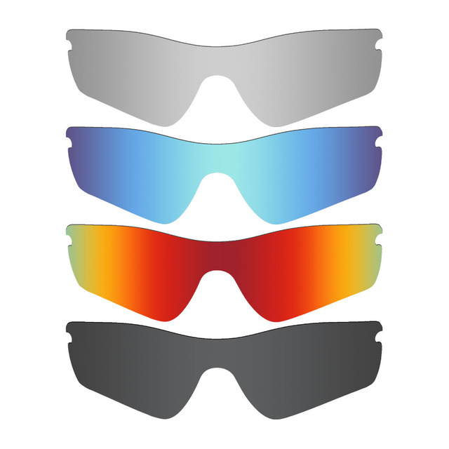 799d8b6f52 4 Pieces MRY POLARIZED Replacement Lenses for Oakley Radar Path Sunglasses  Stealth Black   Ice Blue