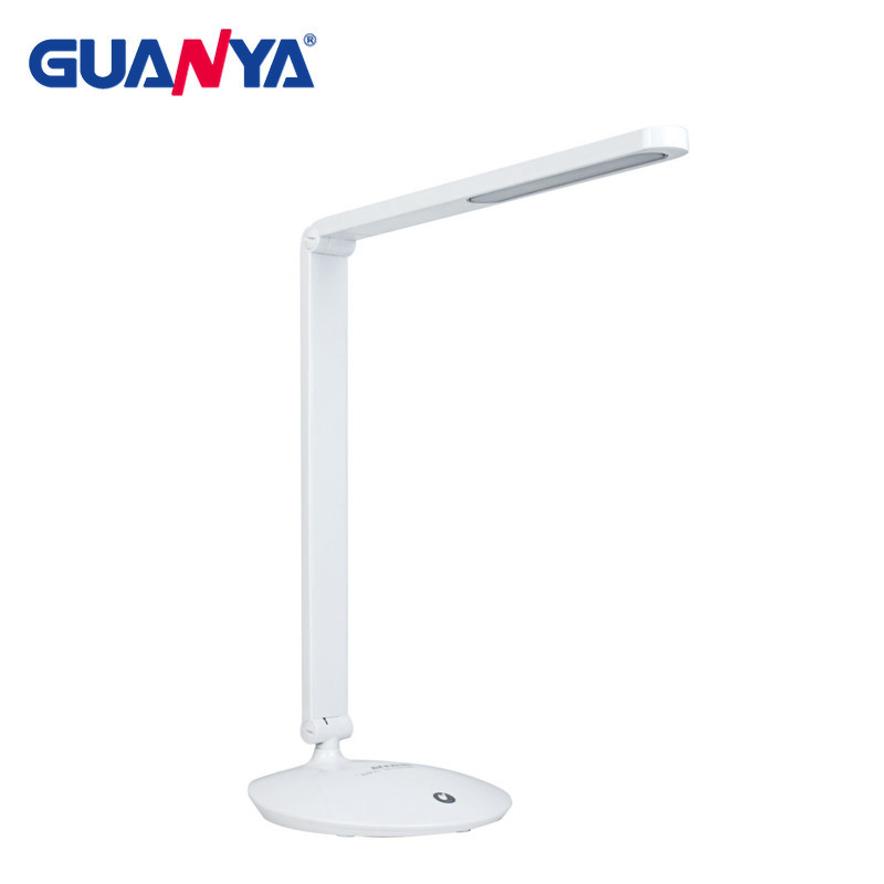 GUANYA 8W Dimmable LED Desk Lamp Touch Switch Folding Design Modern Eye Care LED Table Light Lamp Office Reading Light Lamp 180 head rotate rechargesble dimmable touch switch folding led desk lamp 4 watt 50 leds luminaria de mesa