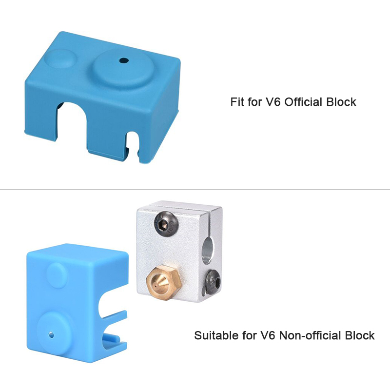 V6 Silicone sock Support V6 Original J-head 1.75-3.0mm Bowden& direct Extruder RepRap For 3D printer