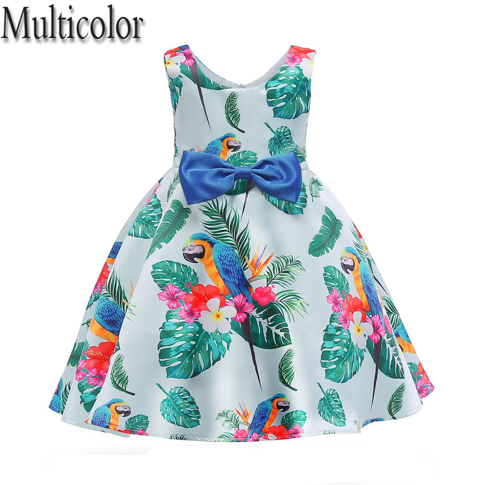 Multicolor Brand Baby Girls Dress 2018 Summer Costume for kids clothes Wedding Party Dress Girls Clothes Princess Dress vestido
