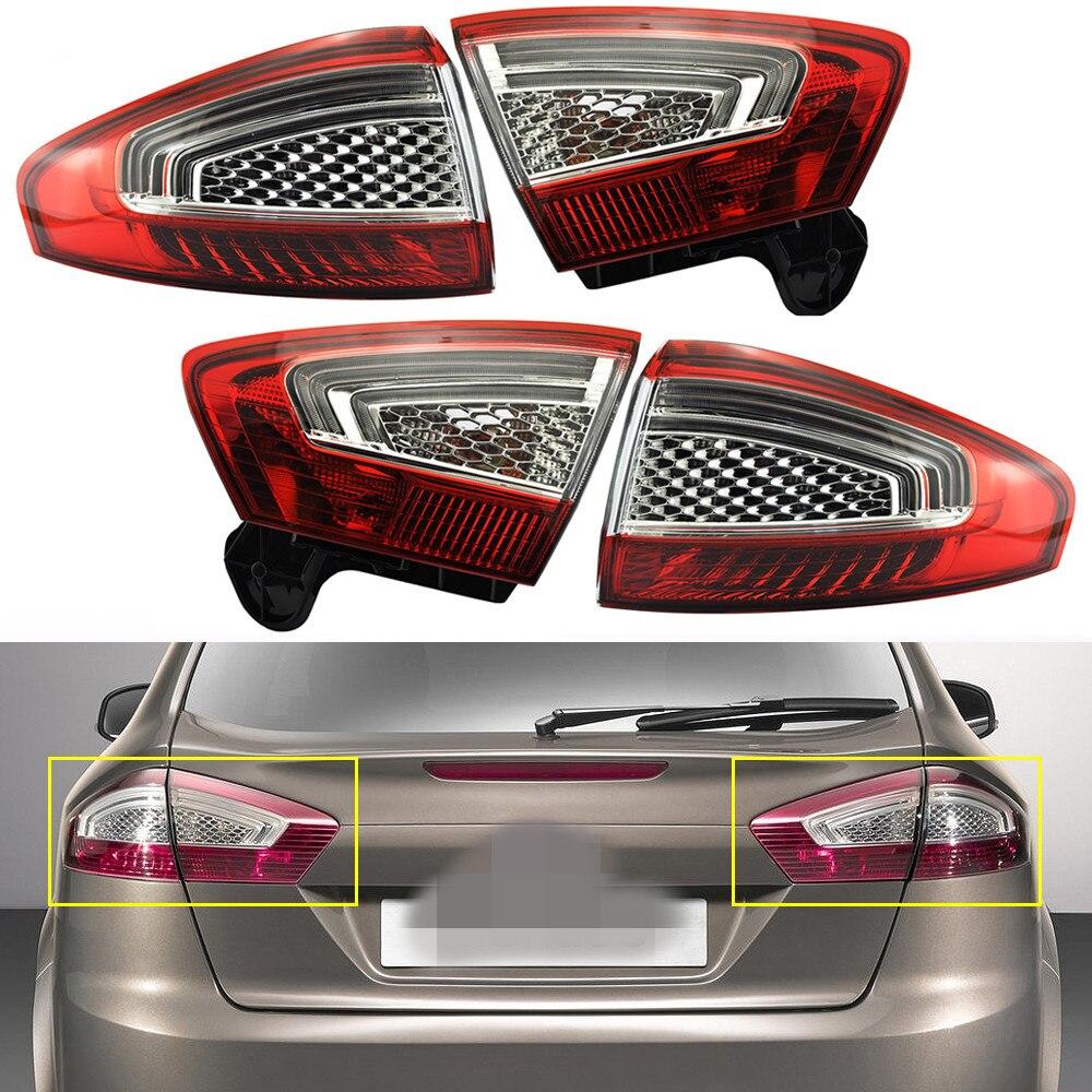 1 Set/4 Pcs droit + gauche feu arrière feu arrière arrière lampe lumières pour Ford Mondeo Fusion 2011-2012