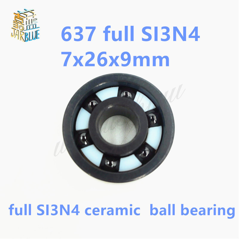 Free shipping 637 full SI3N4 ceramic deep groove ball bearing 7x26x9mm free shipping 6806 full si3n4 p5 abec5 ceramic deep groove ball bearing 30x42x7mm 61806 full complement